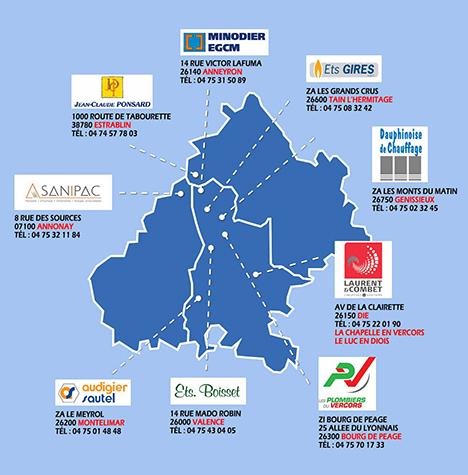 Installateurs chauffagiste et plomberie Drôme Ardèche Isère